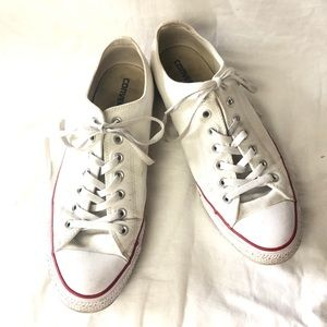 Converse all star white sneakers size 12